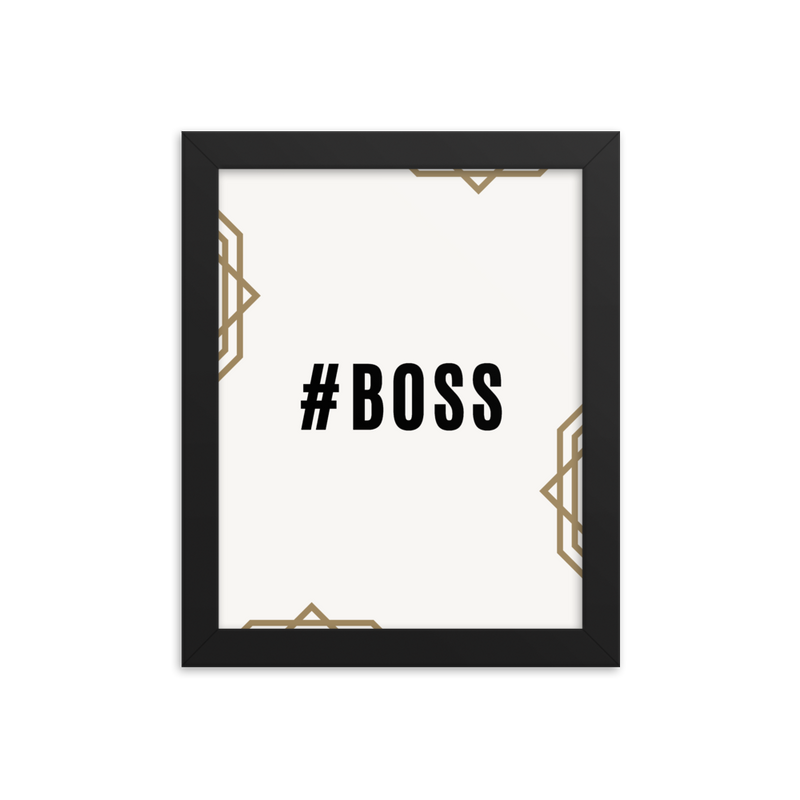 """#Boss"" Enhanced Matte Paper Poster (Frame not Included)"