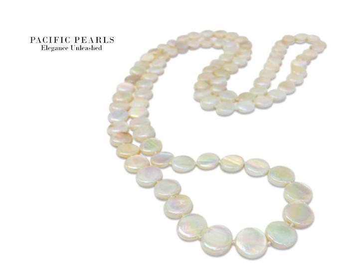 Oyster Bay Collection Double Strand Mother-of-Pearl Necklace