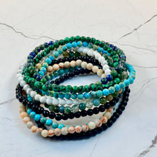 Load image into Gallery viewer, 4 MM BEADS NAMASTE MALACHITE