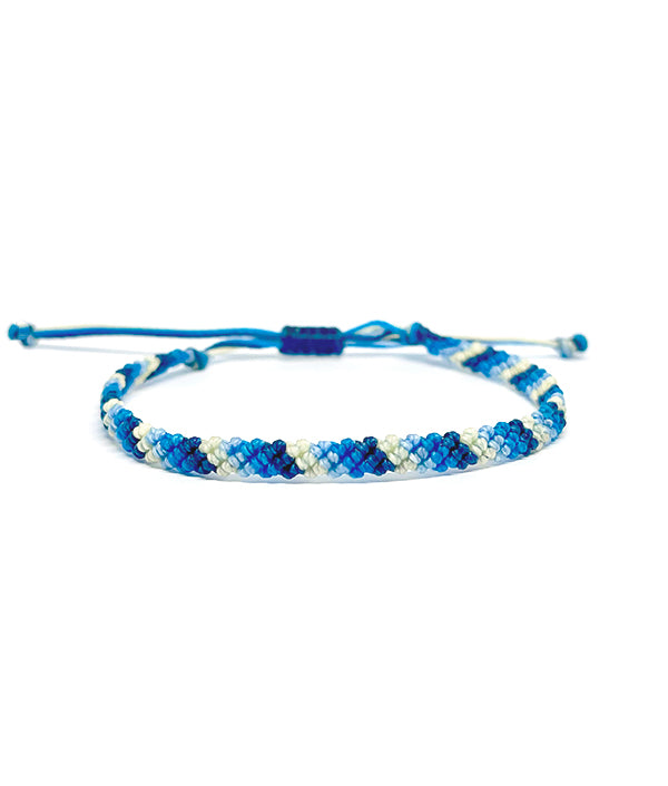 MACRAME WAXED BRACELET SUMMER BLUE