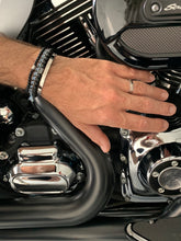 Load image into Gallery viewer, Look 1 harley davidson black bracelet