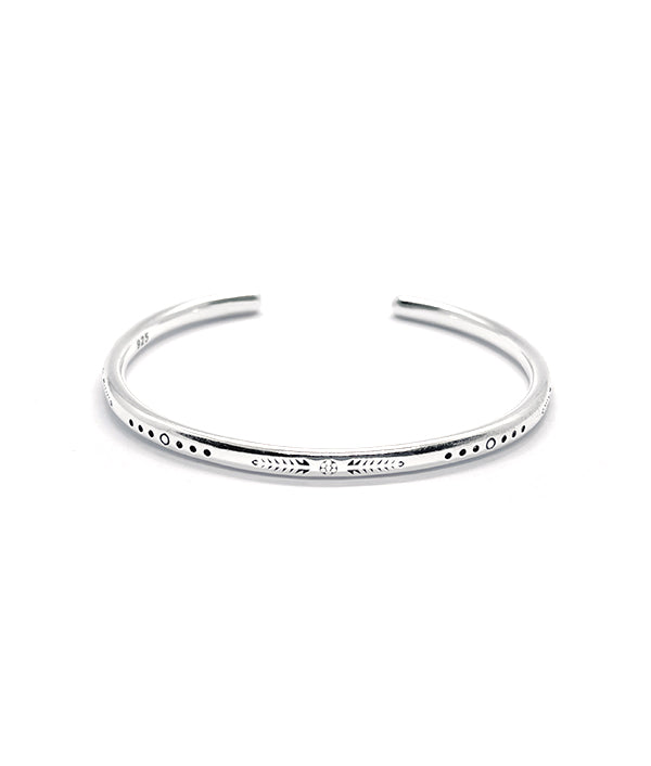 PALENQUE STERLING SILVER BANGLE