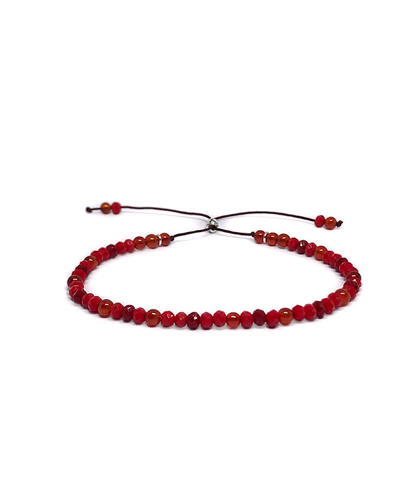 3 MM BEADS REIKI YOGA RED