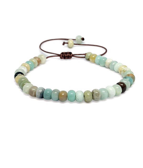 6 MM NATURAL STONE ABACUS AMAZONITE