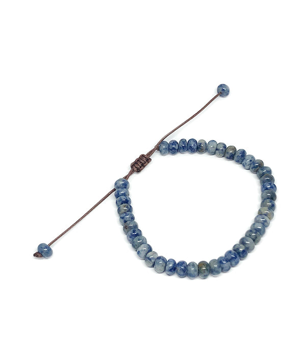 6 MM NATURAL STONE ABACUS BLUE