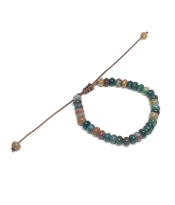 6 MM NATURAL STONE ABACUS JASPER