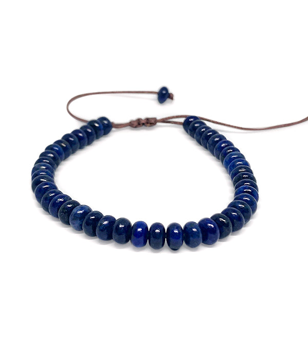 6 MM NATURAL STONE ABACUS LAZULI
