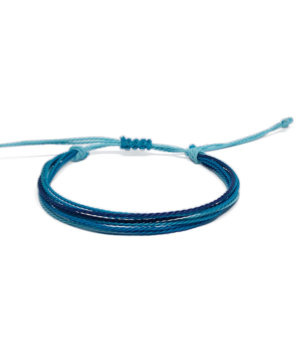 IGUAÇU BRAIDED BRACELET BLUE/BLACK