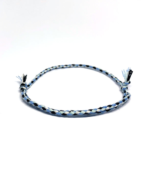 BAHIA BOHO BRACELET LIGHT BLUE/BLACK/WHITE