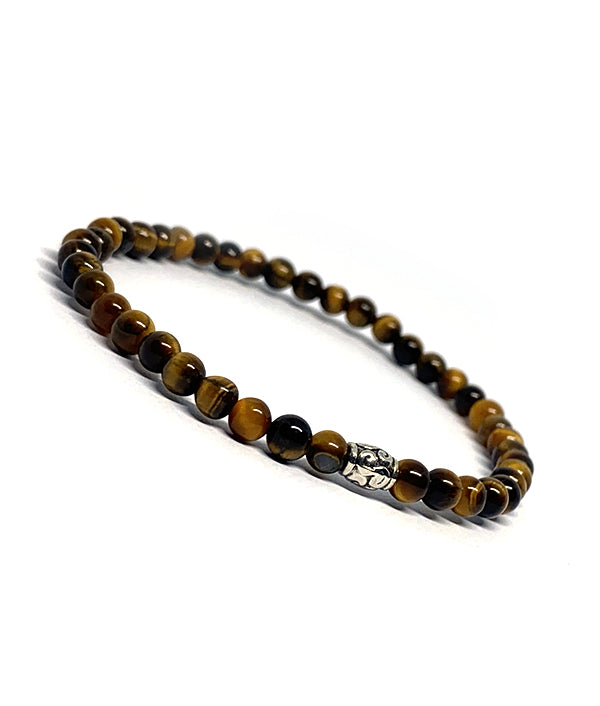 4 MM ANTIQUE CHARM TIGER EYE