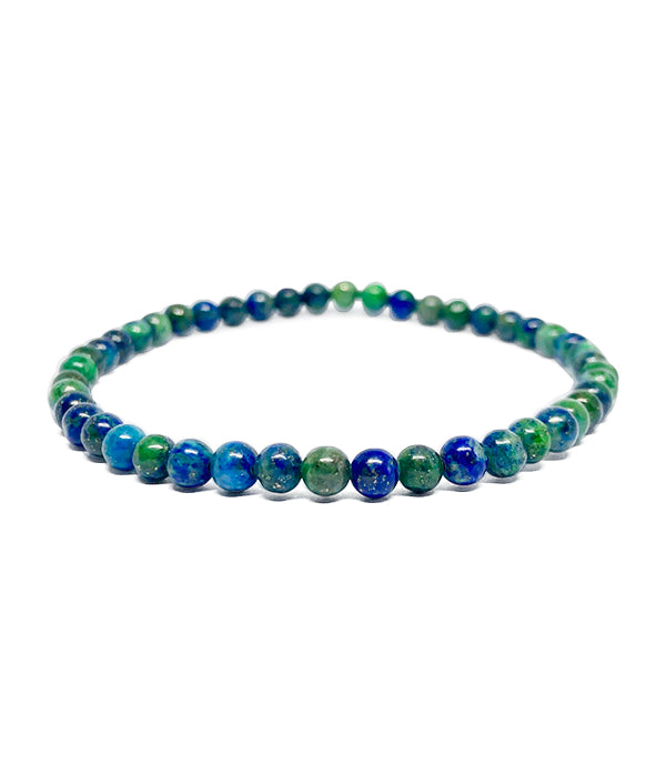 4 MM BEADS NAMASTE GREEN/BLUE