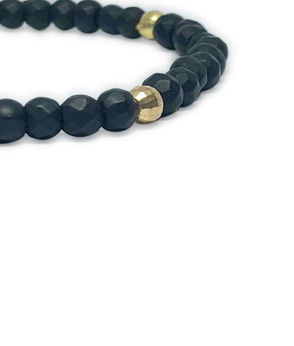 4 MM BEADS BRAZILIA BLACK