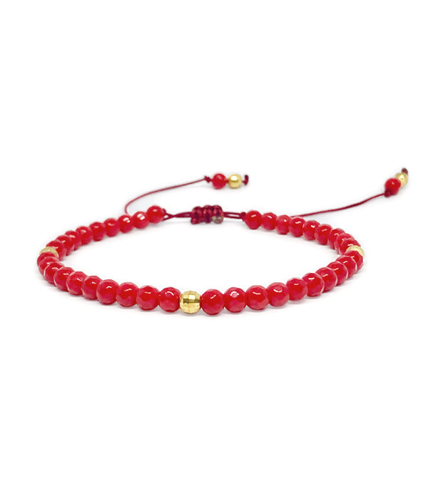 4 MM BEADS BRAZILIA RED