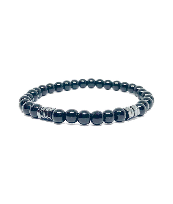 6 MM BEADS METAL BLACK ROCK BLACK
