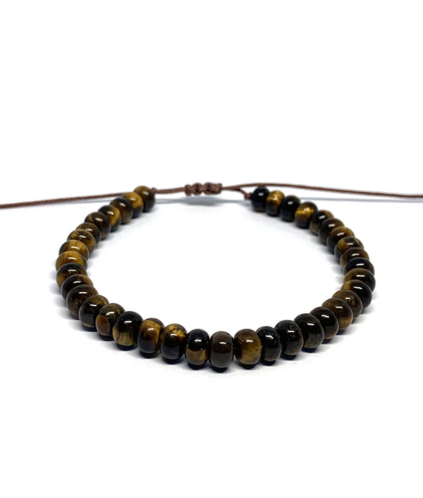 6 MM NATURAL STONE ABACUS TIGER EYE