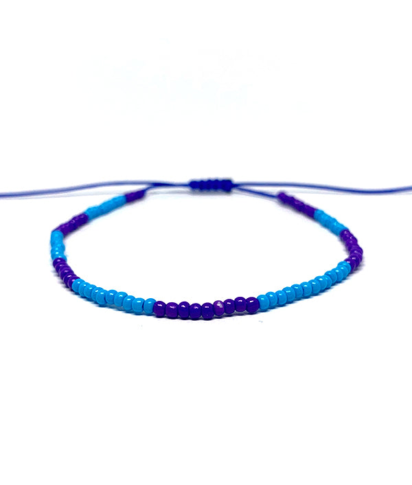 1MM BEADS CANCUN SUMMER BLUE AND PURPLE