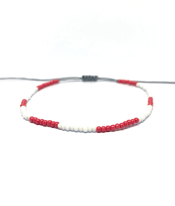 1MM BEADS CANCUN WHITE AND RED