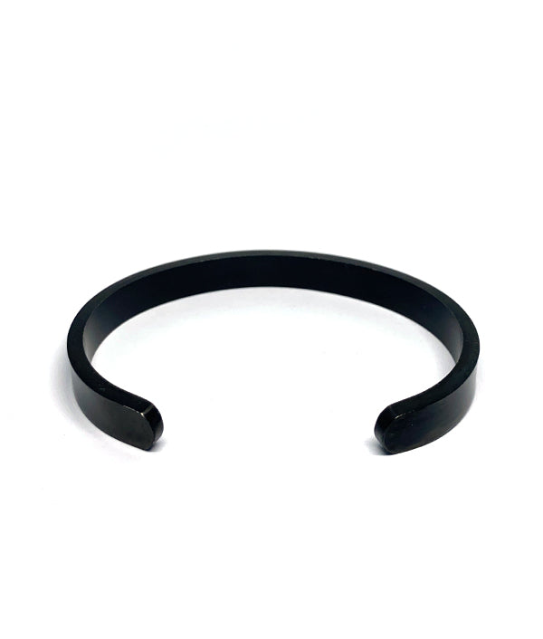 BLACK STEEL OPEN CUFF BANGLE