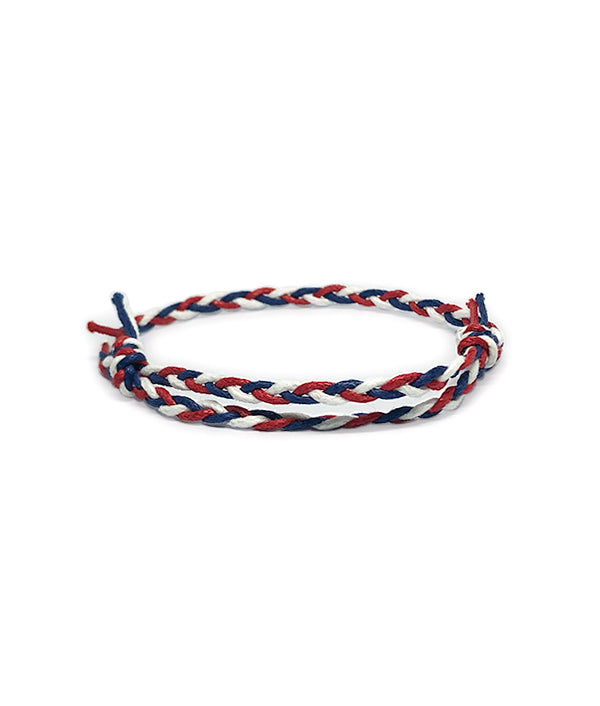 ETHNIC WIND COTTON ROPE BLUE/RED/WHITE