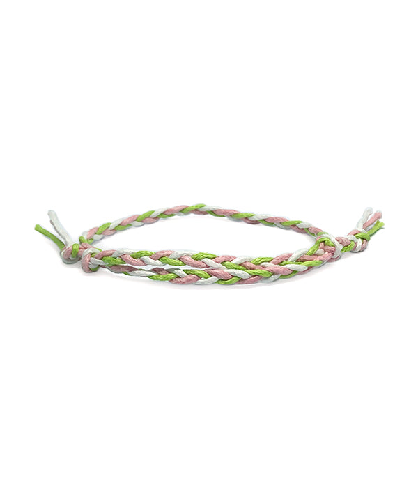 ETHNIC WIND COTTON ROPE GREEN /PINK