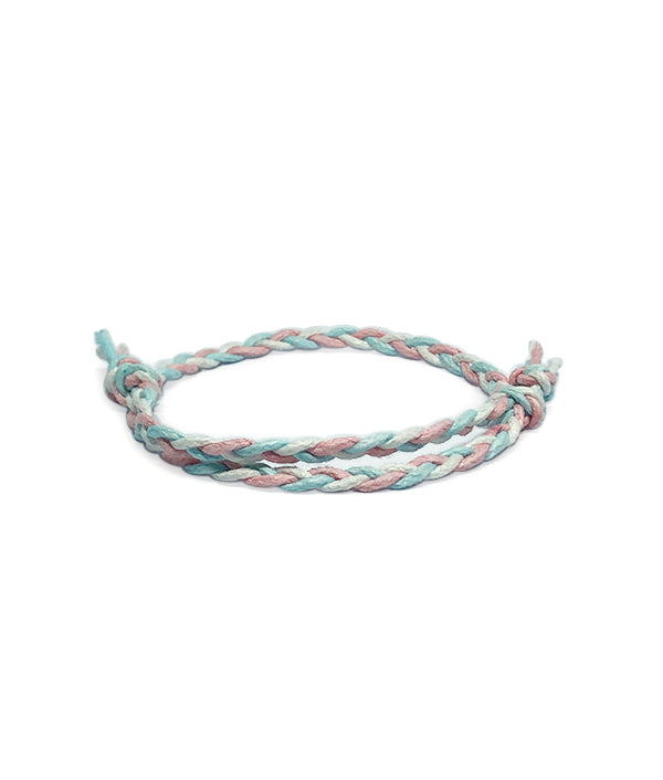 ETHNIC WIND COTTON ROPE PINK/LIGHT BLUE