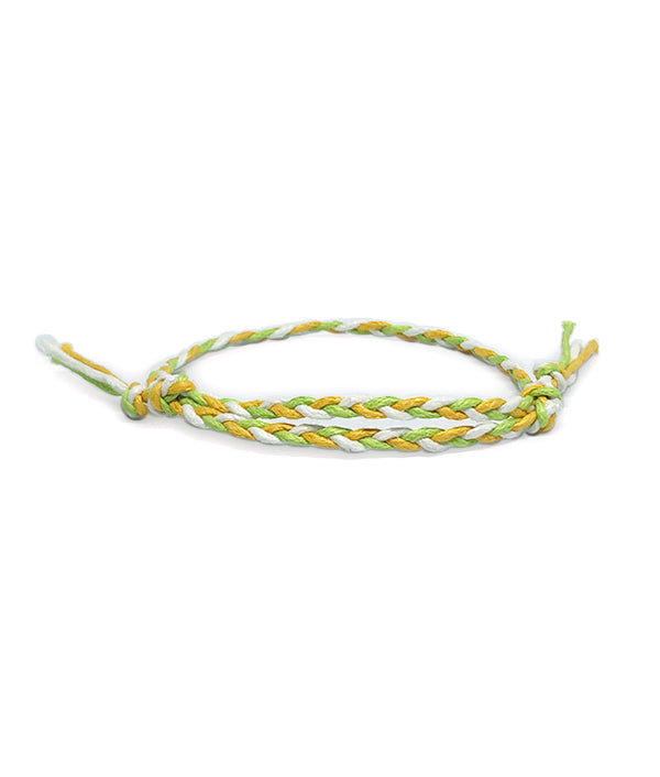ETHNIC WIND COTTON ROPE WHITE/GREEN/YELLOW