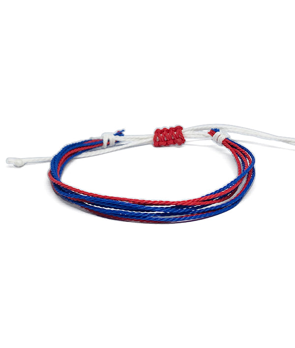 IGUAÇU BRAIDED BRACELET BLUE/WHITE/RED