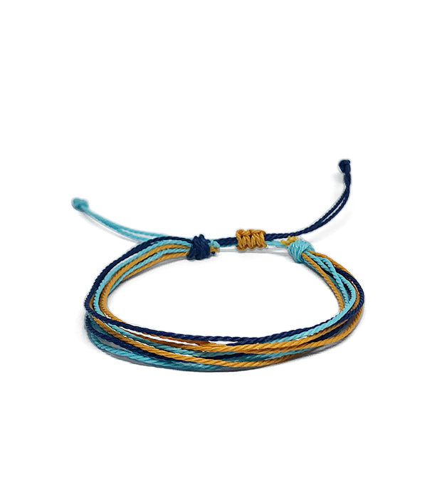 IGUAÇU BRAIDED BRACELET ORANGE/BLUE/BLACK