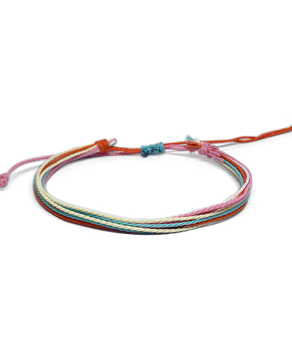IGUAÇU BRAIDED BRACELET ORANGE/WHITE/BLUE