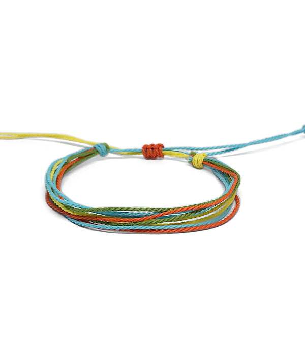 IGUAÇU BRAIDED BRACELET ORANGE/YELLOW/BLUE