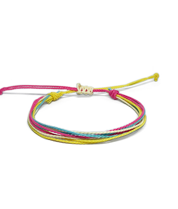 IGUAÇU BRAIDED BRACELET PINK/BLUE/YELLOW