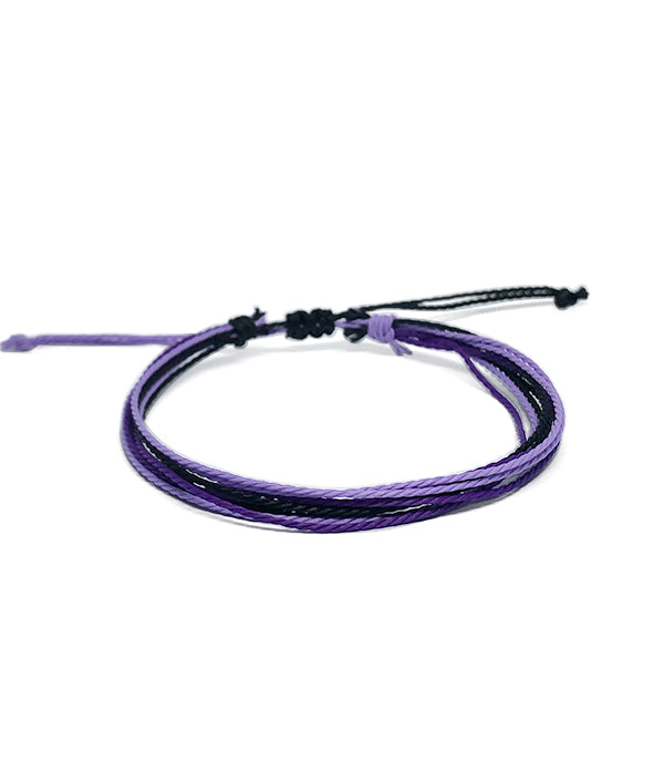 IGUAÇU BRAIDED BRACELET PURPLE /BLACK