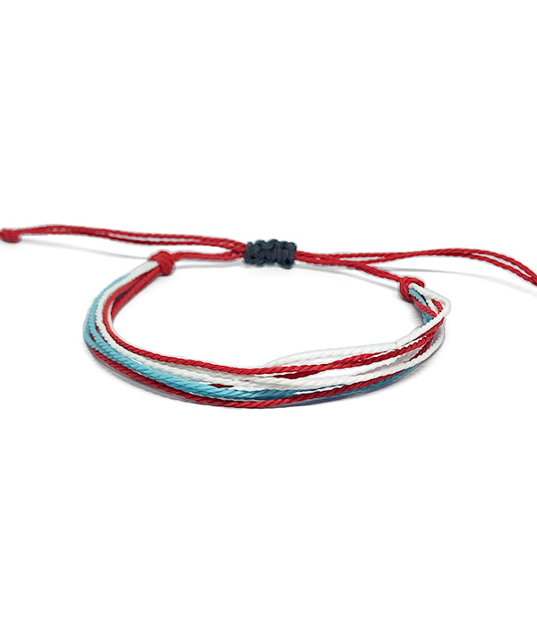 IGUAÇU BRAIDED BRACELET RED/BLUE/WHITE