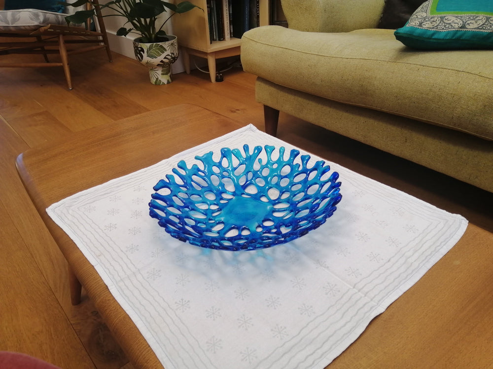 Glass Coral Bowl