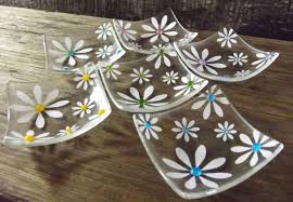 Simply Daisy Jewellery Dish by Berserks Glass