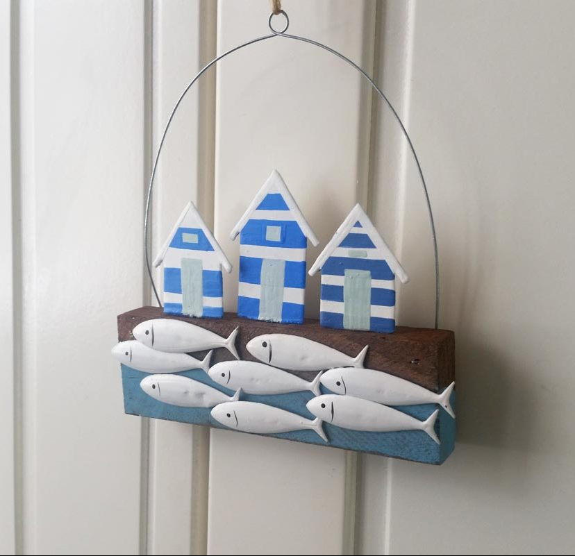 Beach Hut & Fish Hanger