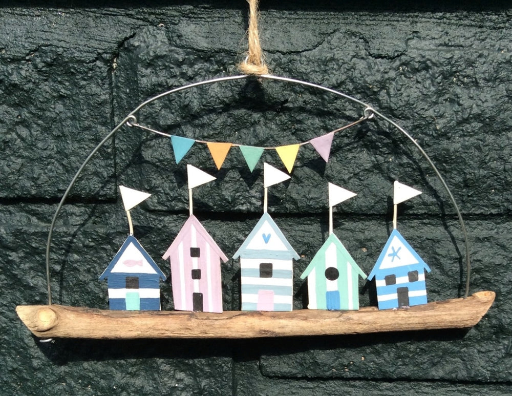 Beach Huts Hanger by Shoeless Joe