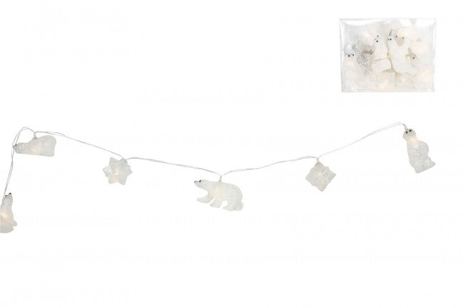Polar Bear & Snowflake Christmas Lights