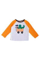 Crocodile football applique boy raglan shirt CXSY-012238 sale