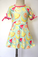 Summer fruit watermelon lemon pineapple dress QZ-319851