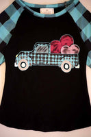 Blue plaid heart  CXSY-504028