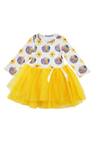 Rainbow tie dye pumpkin tutu dress sale