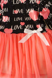 Pink love tulle dress CXQ-600136