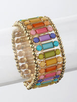 Rainbow Summer Gem Stretchy Bracelet