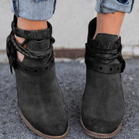 Strappy Ankle Boots