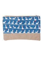Duck Print Accessory Makeup Bag Clutch