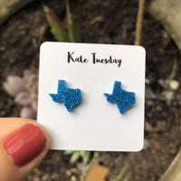 Texas Blue State Stud Earrings