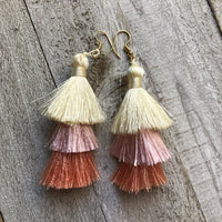Spring Tassel Earrings Light Pink