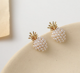 Pearled Pineapple Stud Earrings PRE ORDER