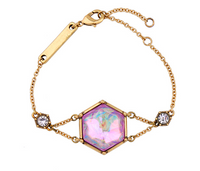Rainbow Gem Gold Bracelet